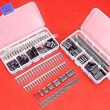 Kit de conectores macho y hembra Hilitchi, regleta macho de 40 contactos, cajas de contacto, conectores dupont macho y hembra 2,54 mm, 345 piezas