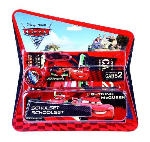 Undercover CA112645 Cars 2 Lightninh McQueen – Set de escritorio (estuche, regla, lápiz, goma, sacapuntas, cuaderno) [importado de Alemania]