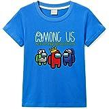 Among Us - Camiseta de manga corta para niña, 100% algodón