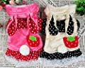 Pet Cat Dog Clothes Strawberry Bunny Rabbit Velet Skirt Dress Small Dog Costume XS S M L XL