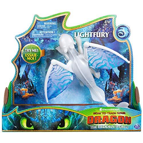Cómo entrenar a tu dragón - Dragón gigante articulado Furia Luminosa, Dragons Lightfury (Bizak 61926626)