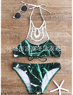TIANLU Bikini Sexy Conjuntos Bañador de Adelgazamiento Trajes de Baño Correa Correas de Moda Dividir Imagen de...
