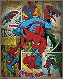 Pyramid International Spider-Man Retro Marvel Comics Mini-Poster, Kunststoff/Glas, Mehrfarbig, 40x 50x 1,3cm