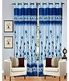 Rangoli@home Gulab Blue Curtain 48 x 108...