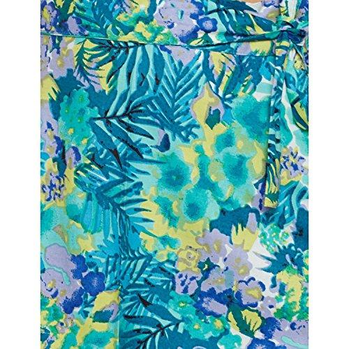 Damen Kleid Baumwolle gedruckt Wrap-Around Sarong Strandrock eine Linie TÜRKIS 1