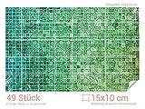 GRAZDesign 766063_15x10_70 Fliesenaufkleber Mosaik - Muster Grün | mit Fliesenbildern die Fliesen-Wände überkleben (Fliesenmaß: 15x10cm (BxH)//Bild: 105x70cm (BxH))