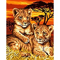 Lion Cubs Grafitec Printed Tapestry//Needlepoint Kit