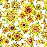 P & B Textiles Sonnenblumenstoff - PB12 Sonnenblumen auf