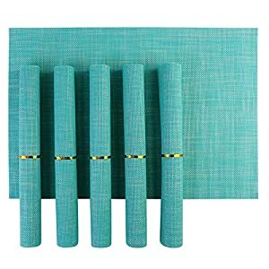 Eco HometownTM PVC Dining Table Kitchen Placemats, 45 x 30 cm, 6 Pieces, Set Of 1