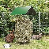 Bellissa Stand-Heuraufe Kaninchen Meerschwein Nager Futter-Raufe Futterkrippe