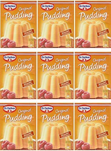 Dr. Oetker Pudding-Pulver Mandel 9er Pack (9 x 111g)