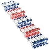 Leifheit Pinzas Colada 25U 1085660, Azul, Rojo, Color Blanco, A