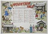 HOFFMASTER 702026Dollar Wise recyceltem Papier Fashion Tisch-Sets, 35,6cm Länge x 25,4cm Breite, Mountain Talk (1000Stück)