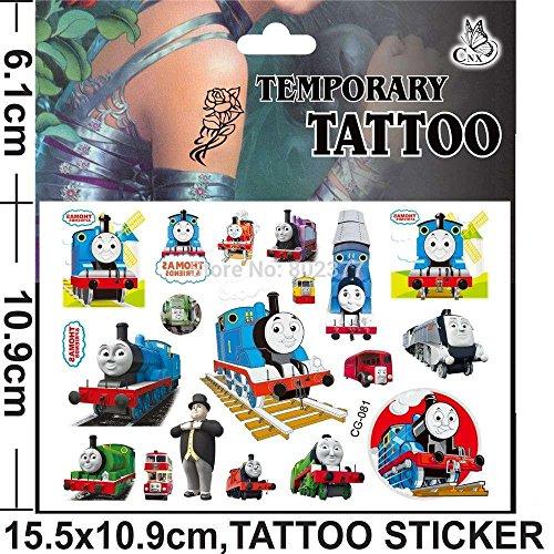 Cg081 tattoo temporanei personaggi cartoni animati per bamabini