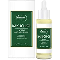 StBotanica Bakuchiol Face Oil Natural Anti Aging Elixir With Rosehip Seed Oil, Sea Buckthorn Oil, Marula Oil, 30 ml