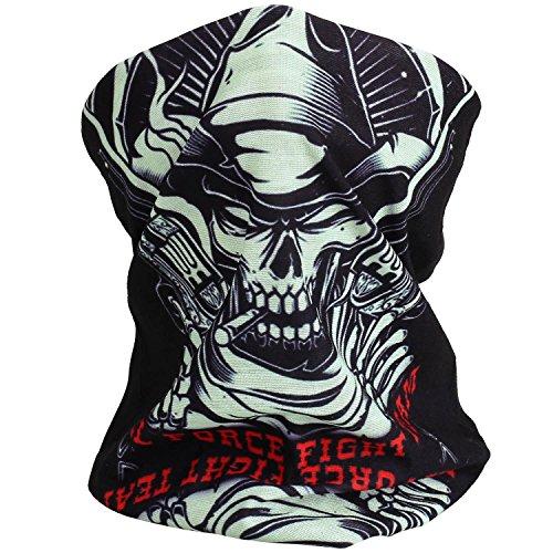 Cido Premium Sturmmaske Totenkopf Skull Maske Multifonction Sturmmaske Ghost für Motorrad Fahrrad Ski Paintball Gamer Karneval Kostüm (5#) Kaltem Getriebe