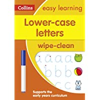Lower Case Letters Age 3-5 Wipe Clean Activity Book: Prepare for Preschool with easy home learning (Collins Easy…