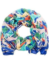style3 Leichter Damen-Schal mit kunstvoll stilisierten Pferden aus reiner Baumwolle