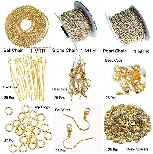 Beadsncraft For Silk Thread Jewellery Making Mini Kit, ( 9 Items )