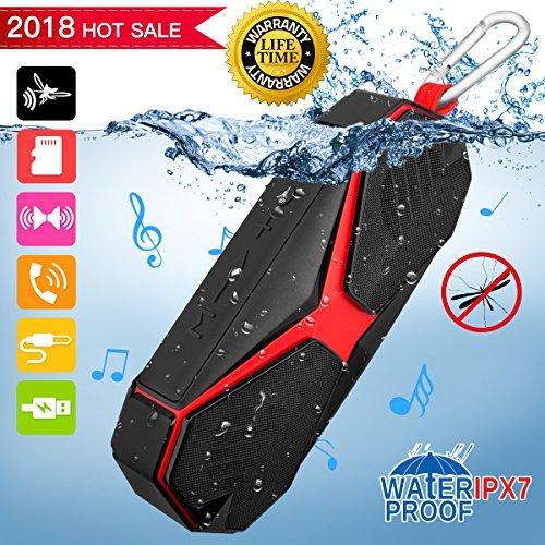 Bluetooth Lautsprecher mit Schädlingsbekämpfung, IPX7 Wasserdicht Tragbare Lautsprecher mit Mikrofon Mobiler Kabelloser Außen-Lautsprecher Stereo Wireless Speaker IOS Android Tablet Smartphones