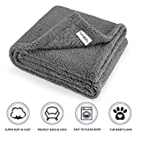furrybaby Premium Flauschige Fleece Hundedecke,Weiche und Warme Hündchen Decke für Hund und Katze...