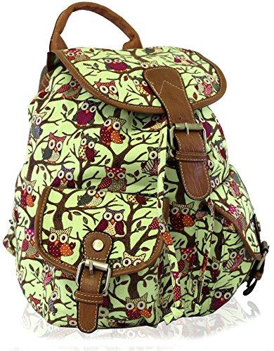 Kukubird POLKA DOT Backpack SPOTTY Rucksack School Bag Green