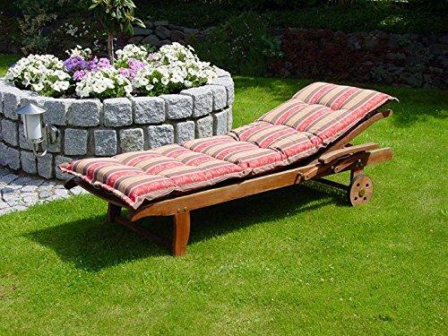 Grasekamp Kissen Gartenliege Liegestuhl Sonnenliege Relaxliege - Flower