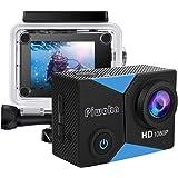 Piwoka Action Cam 1080P 12MP FHD 30M Impermeabile Fotocamera Subacquea con Schermo 2 Pollici 140 Gradi Ampia Vista Grandangol