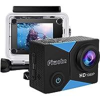 Piwoka Action Cam 1080P 12MP FHD 30M Impermeabile Fotocamera Subacquea con Schermo 2 Pollici 140 Gradi Ampia Vista…