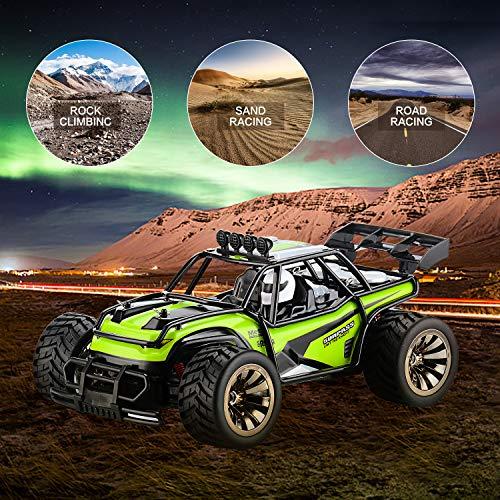 RC Auto kaufen Truggy Bild 4: Aandyou Ferngesteuertes Auto,1:16 RC Auto,2.4GHz Ferngesteuertes Monstertruck,High Speed RC-Auto mit 2 wiederaufladbaren Batterien*