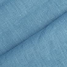 Holmar - Tela 100% lino - Prelavado - Translúcido - Por metro (azul suecia