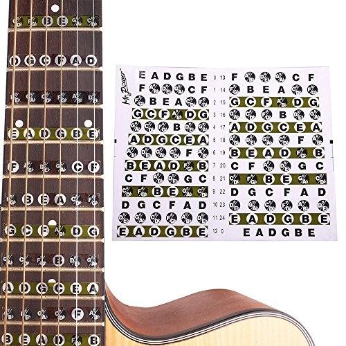 Peretón de Guitarra Pegatina Mapa notas de trastes para Guitarra Eléctrica Acústica.