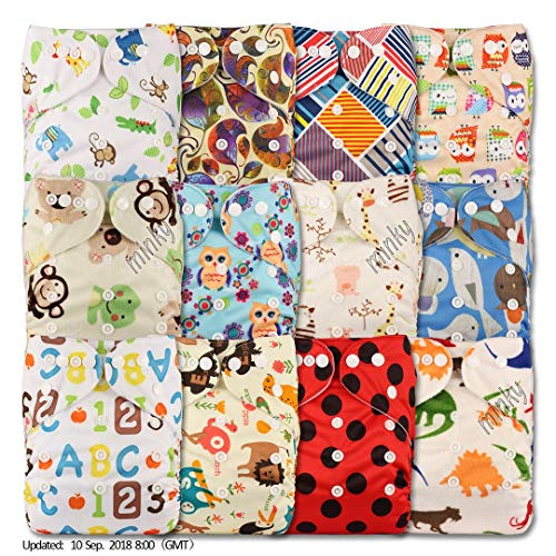 Fastener: Popper Set of 3 Patterns 314 with 6 Microfibre Inserts Reusable Pocket Cloth Nappy Littles /& Bloomz