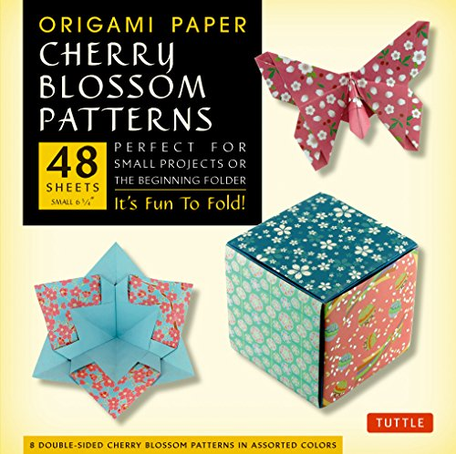 Cherry Blossoms Patterns Origami Paper: Perfect for Small Projects or the Beginning Folder di Tuttle Publishing