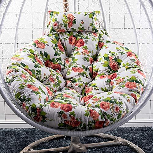 Schaukel Hängenden Korb Sitzkissen, verdicken Hängen Ei Stuhl Pads Wasserdichte Weiche Stuhl Sitzkissen Für Terrasse Garten-4 105x105 cm (41x41 zoll)