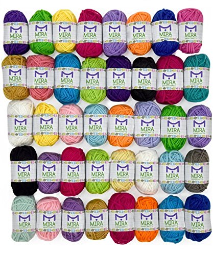 basic-miniature-yarn-pack-40-yarn-bonbon-skeins-100-acrylic-total-of-875-yards-800-m-colorful-hobby-
