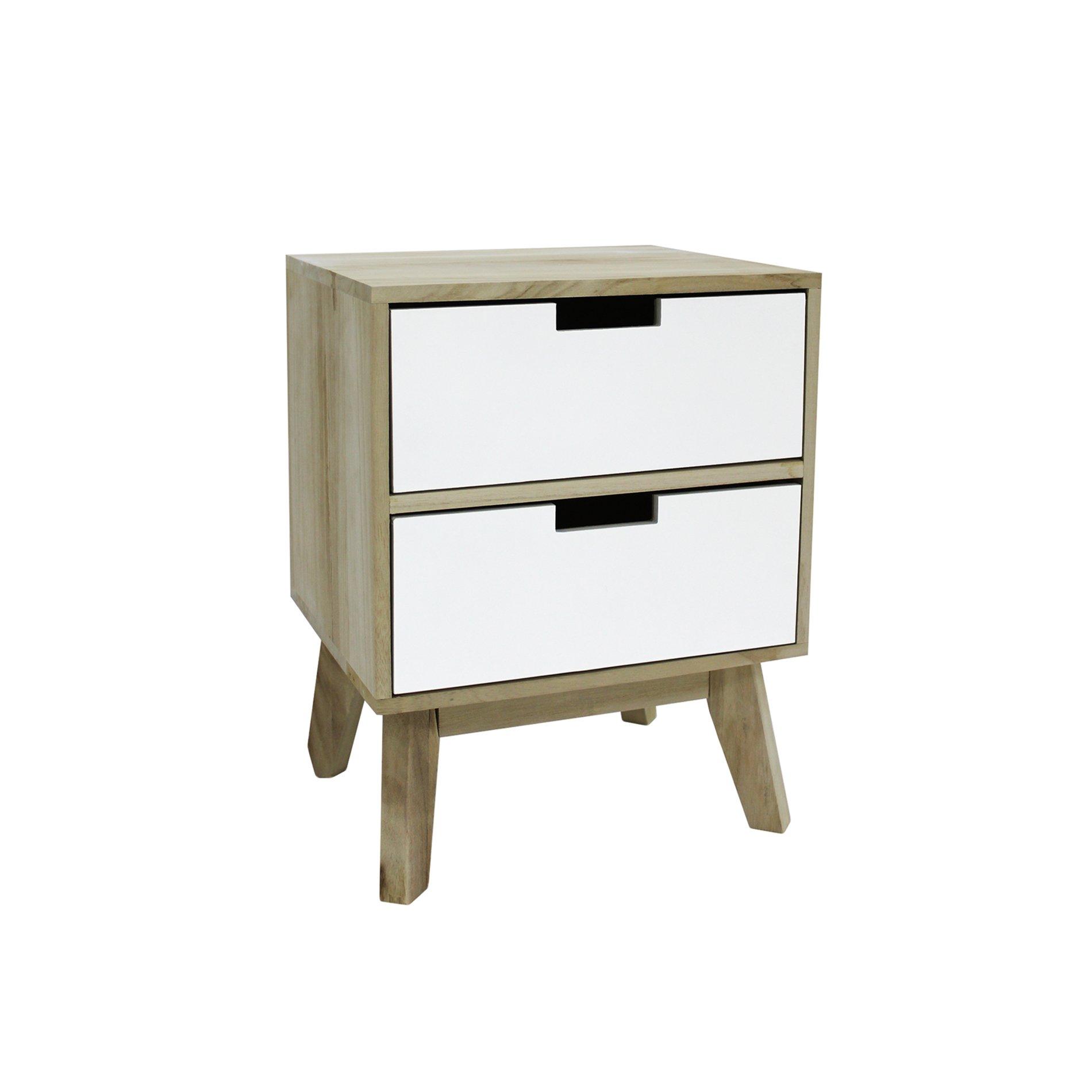 rebecca mobili armoire commode blanc marron clair bois decor scandinave chambre salon inspid co. Black Bedroom Furniture Sets. Home Design Ideas