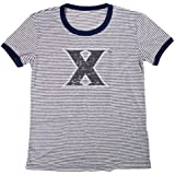 Blue 84 NCAA Xavier Musketeers Women's Tri-Blend Retro Stripe Ringer Shirt, Medium, Navy