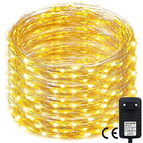500 LED Weihnachten Lichterkette,RcStarry(TM) 165Ft/50M silberdraht Lichterkette mit 500 LEDs innen und außen für Weihnachten/Deko/Party/Hochzeit, Warmweiß - Not Just A Gadget