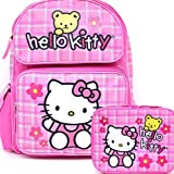 Sanrio Hello Kitty Large Backpack School Bag and Insulated Lunchbox Lunch Tote Bag 2 Pieces Set by Hello Kitty
