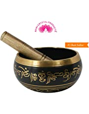 Reiki Crystal Products Singing Bowl| Tibetan Buddhist Prayer Instrument With Wooden Stick | Meditation Bowl | Music Therapy | 3.5 Inches Approx