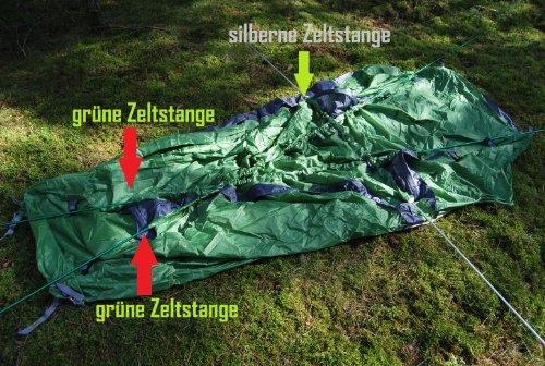 everest1953 Zelt Expeditionszelt Geodät 1 Personen TrekPeak1 Silikon Kuppelzelt Liegefläche 240 cm grün -