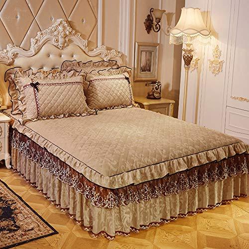 Volant,bettrock,Plakette,grundbettung Extra,Tiefe Plädoyers Komfort Wrap-Around Bed Elastische Staubdicht Hotel-f 180x200cm(71x79inch)
