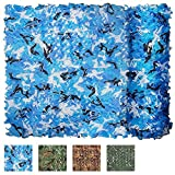 XYLUCKY Woodland Camouflage Net Military Camo Netting Jagd Camping Shooting Blind Ausblenden Armee Sonnenschirm Netze Party Dekoration,Aquablue,6×6M
