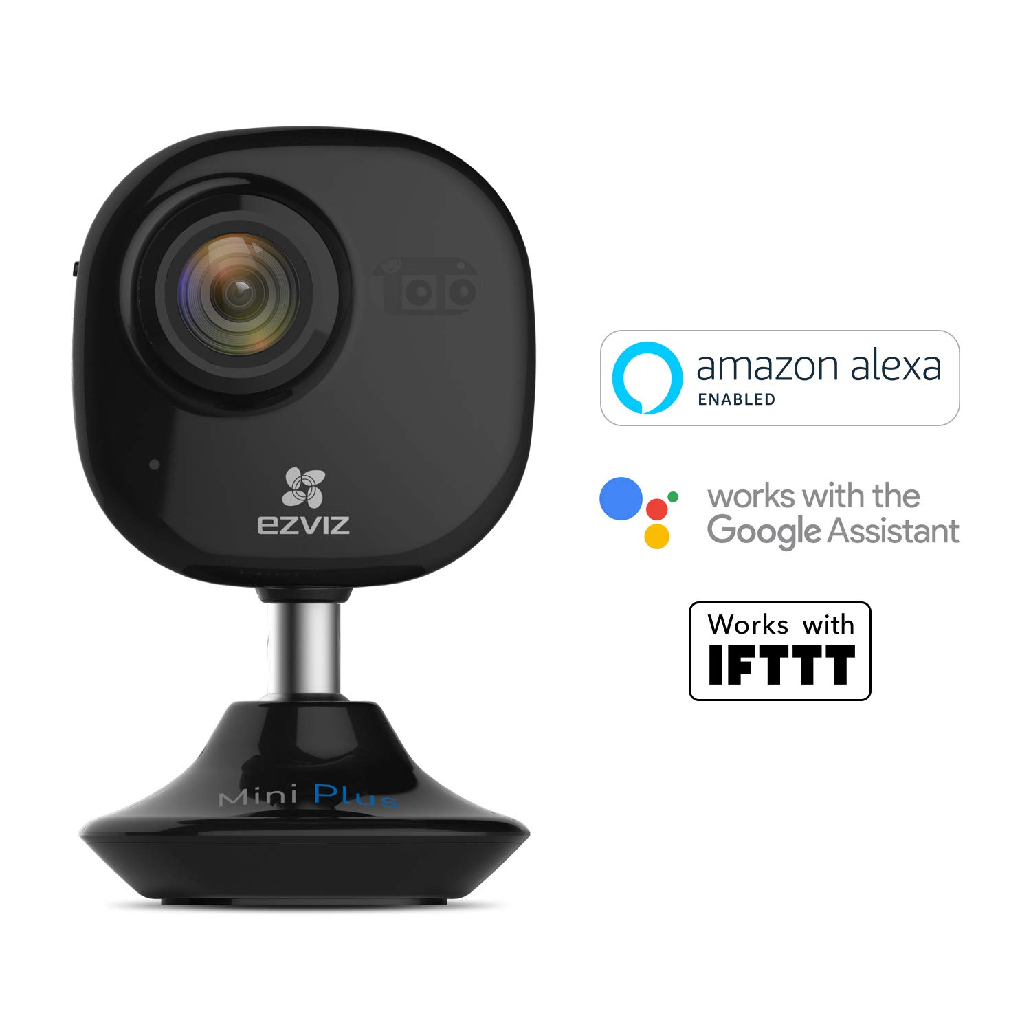EZVIZ Mini Plus Black Wireless Smart Home Security Camera, Indoor 1080P Cube, 10m NightVision, Two way audio, Motion…