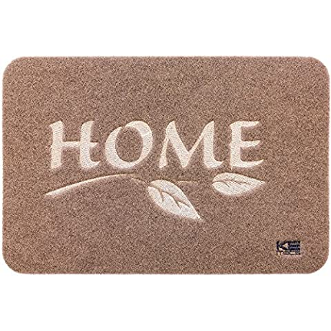 KEmats Basic Front Door Mats – All-Weather Interior Floor Rug – Ideal for low traffic Entryways, Kitchens, Garages, Patios, Mud Rooms – Indoor Use Only (40 x 60 cm,