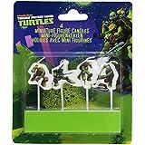Amscan - 4 velas de figuras de Tortugas Ninja