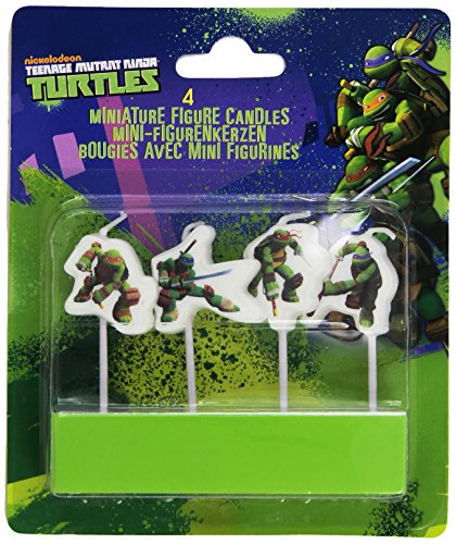 4 Mini-Figurenkerzen * TEENAGE MUTANT NINJA TURLTES * -