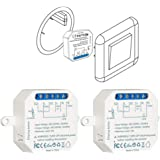 LoraTap Interruttore WiFi Alexa, Smart Timer Switch Funziona in Parallelo con Interruttore a Parete Originale, Compatibile co