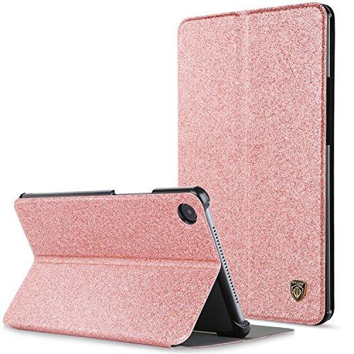 BENTOBEN Huawei MediaPad M5 8.4 Hülle, Huawei MediaPad M5 8.4 Slim Smart Cover PU Leder Case mit Standfunktion Auto Schlaf/Wake Glitzer Hülle für Huawei MediaPad M5 8.4 2018 Roségold